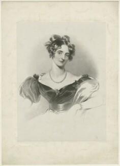 Harriet Windsor-Clive (née Windsor), Baroness Windsor when Lady Harriet Clive, by Richard James Lane, after  Sir Thomas Lawrence - NPG D37058