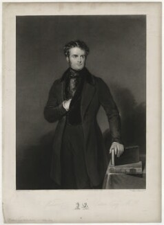 John Wilson-Patten, Baron Winmarleigh, by Thomas Goff Lupton, published by  Thomas Agnew, after  John Bostock - NPG D37059