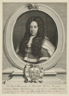 Peter King, 1st Baron King of Ockham, by George Vertue, published by  John Curson, 1724 - NPG D36871 - © National Portrait Gallery, London