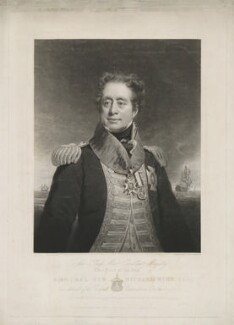 Sir Richard King, 2nd Bt, by Charles Turner, printed by  R. Lloyd, published by  Sir Francis Graham Moon, 1st Bt, published by  Colnaghi, Son & Co, after  George Lethbridge Saunders - NPG D36874