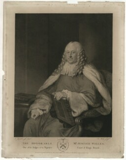 Hon. Edward Willes, by James Heath, published by  W. Scott, and published by  Edmund Scott, after  Thomas Gainsborough - NPG D37072