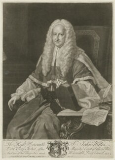 Sir John Willes, by and published by John Faber Jr, sold by  John Ryall, and sold by  Robert Withy, after  Thomas Hudson, 1744 - NPG D37074 - © National Portrait Gallery, London