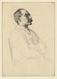Rudyard Kipling, by William Strang, printed by  David Strang - NPG D36882