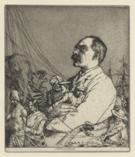 Rudyard Kipling, by William Strang, 1900 - NPG  - © National Portrait Gallery, London