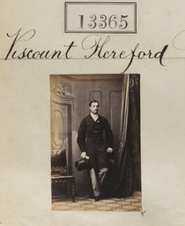 Robert Devereux, 16th Viscount Hereford, by Camille Silvy - NPG Ax62998