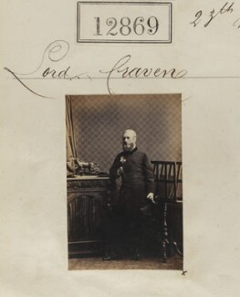 William Craven, 2nd Earl of Craven, by Camille Silvy - NPG Ax62511