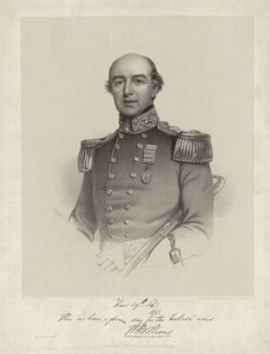 Sir William Fenwick Williams, 1st Bt, by Thomas Herbert Maguire, printed by  M & N Hanhart, published by  Henry Graves, after  Willis (Willes) Maddox - NPG D37084