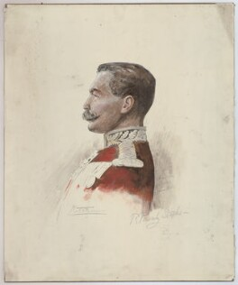 Herbert Kitchener, 1st Earl Kitchener, by Sir Robert Ponsonby Staples, Bt - NPG D36892