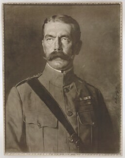 Herbert Kitchener, 1st Earl Kitchener, by Grove & Son, after  Heinrich von Angeli - NPG D36895