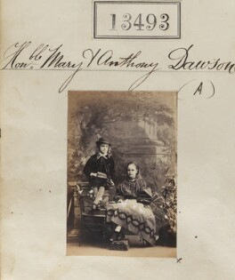 Anthony Lucius Dawson, 3rd Earl of Dartrey; Mary Eleanor Anne (née Dawson), Countess of Ilchester, by Camille Silvy - NPG Ax63126