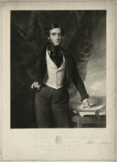 Sir Richard Bulkeley Williams-Bulkeley, 10th Bt, by Samuel William Reynolds Jr, published by  Edward Parry, after  Sir Francis Grant - NPG D37091