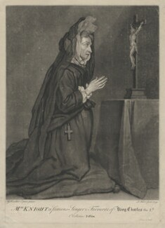 Mary Knight, by John Faber Jr, after  Sir Godfrey Kneller, Bt - NPG D37108