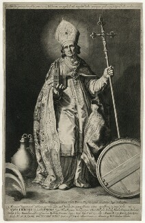 St Willibrord, by Cornelis Bloemaert, after  Abraham Bloemaert - NPG D37093