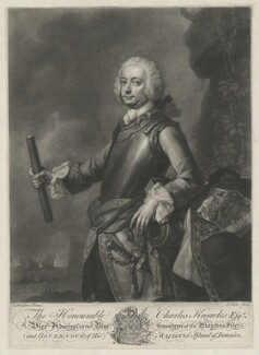 Sir Charles Knowles, 1st Bt, by John Faber Jr, after  Thomas Hudson - NPG D37112