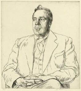 Frank Vigor Morley, by Edgar Holloway - NPG D37802