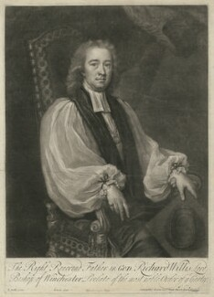 Richard Willis, by John Simon, sold by  Thomas Bowles Jr, after  Michael Dahl - NPG D37097
