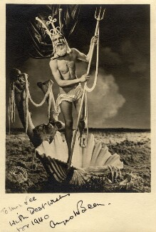 Angus McBean as Neptune, by Angus McBean, 1939 - NPG  - © estate of Angus McBean / National Portrait Gallery, London