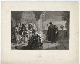 John Knox reproving the ladies of Queen Mary's court, by William Thomas Roden, published by  Joseph Hogarth, after  Alfred Edward Chalon - NPG D37118