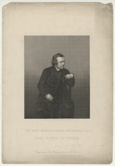Samuel Wilberforce, by Daniel John Pound, published in a supplement to  Illustrated News of the World, after  John Jabez Edwin Mayall - NPG D37509