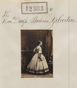 Barbara (née Yelverton), Lady Churston, by Camille Silvy - NPG Ax62036
