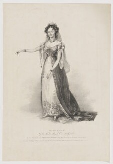 Maria Ann Lovell (née Lacy) as Princess Diana in 'Love's Victory', published by William Kenneth - NPG D37128