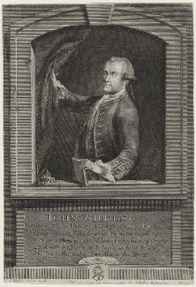 John Wilkes, by John Sebastian Miller (formerly Johann Sebastian Müller), published by  Carington Bowles - NPG D37521