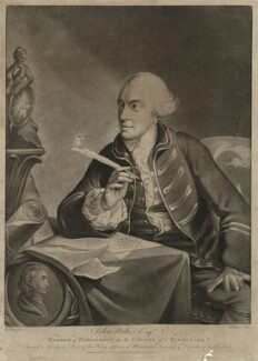 John Wilkes, published by Matthew or Matthias Darly, after  Kitchemer, after  Robert Edge Pine - NPG D37524