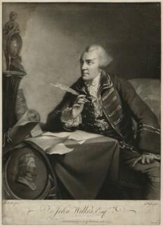 John Wilkes, by James Watson, after  Robert Edge Pine, published 1764 - NPG D37526 - © National Portrait Gallery, London