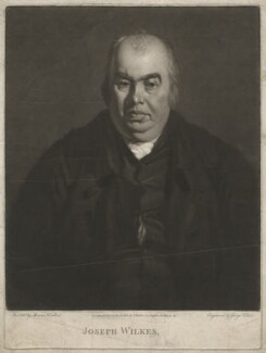 Joseph Wilkes, by George Clint, published by  Thomas Walker - NPG D37527