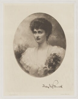 Lady Inez Charlotte Grace Fitzgerald (née Caseberd Botelier), by Frederick John Jenkins, after  Edward Hughes, 1891 or after - NPG D36944 - © National Portrait Gallery, London