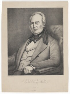 Walter Savage Landor, by J. Stewart, printed by  William Spreat, published by  E. Collings - NPG D37151
