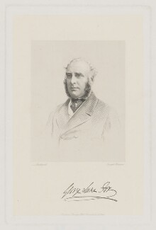 George Lane-Fox, by Joseph Brown, published by  Baily Bros, after  William Henry Southwell - NPG D37157