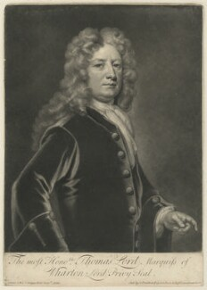Thomas Wharton, 1st Marquess of Wharton, by and sold by John Smith, after  Sir Godfrey Kneller, Bt - NPG D37540