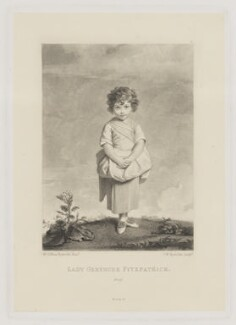 Lady Gertrude Fitzpatrick, by Samuel William Reynolds, published by  Henry Graves & Co, after  Sir Joshua Reynolds, (1779-1780) - NPG D36952 - © National Portrait Gallery, London