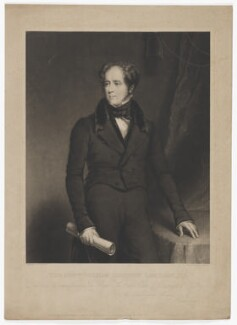 William Saunders Sebright Lascelles, by William Overend Geller, published by  Ackermann & Co, published by  Nicholls & Stansfield, after  William Keighley Briggs - NPG D37176