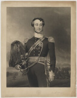 Brook William Bridges, Baron Fitzwalter, by Samuel Bellin, published by  H. Russell, after  Thomas Roods - NPG D36955