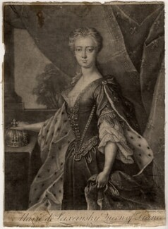 Marie Leczinska of France, by Peter Pelham, after  Bouvar - NPG D10943