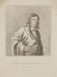 John Flaxman, by M. de Clauson, published by  M.A. Nattali, after  John Flaxman - NPG D36966