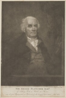 Sir Henry Fletcher, 1st Bt, by John Young, after  John Keenan - NPG D36978