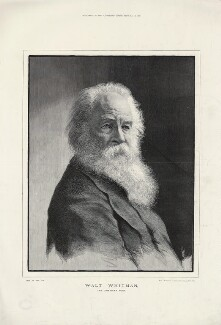 Walt Whitman, by Moritz Klinkicht, supplement to the  Illustrated London News, after  Napoleon Sarony - NPG D37573