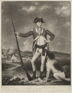 Sir Richard Whitworth in camp at Winchester 1778, by Robert Laurie, after  Thomas Hardy - NPG D37577