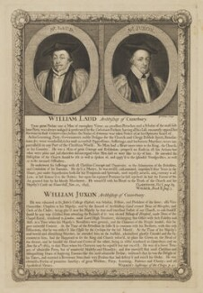 William Laud; William Juxon, by George Vertue - NPG D37185