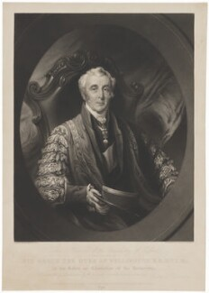 Arthur Wellesley, 1st Duke of Wellington, by George Henry Phillips, published by  Graves & Warmsley, after  Henry Perronet Briggs - NPG D37578