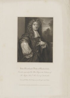 John Maitland, Duke of Lauderdale, by John Samuel Agar, published by  Lackington, Hughes, Harding, Mavor & Jones, published by  Longman, Hurst, Rees, Orme & Brown, after  William Hilton, after  Sir Peter Lely - NPG D37190