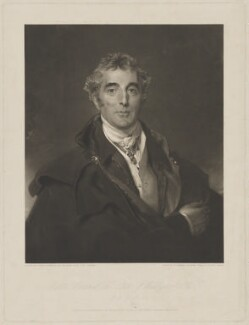 Arthur Wellesley, 1st Duke of Wellington, by George Raphael Ward, published by  Paul and Dominic Colnaghi & Co, after  Sir Thomas Lawrence - NPG D37593