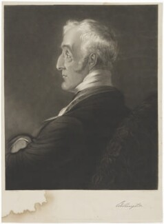 Arthur Wellesley, 1st Duke of Wellington, by Charles Edward Wagstaff, printed by  W. Hatton, published by  Thomas McLean, after  Benjamin Robert Haydon - NPG D37601