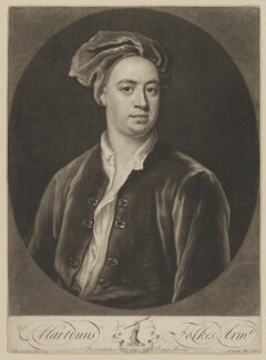 Martin Folkes, by John Smith, after  Jonathan Richardson - NPG D36990