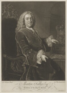 Martin Folkes, by James Macardell, after  Thomas Hudson, late 1740s-1750s - NPG D36991 - © National Portrait Gallery, London