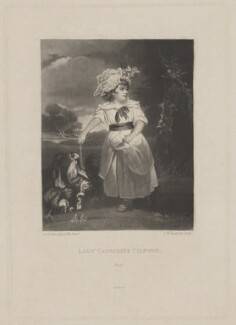 Catherine (née Pelham-Clinton), Viscountess Folkestone, by Samuel William Reynolds, published by  Henry Graves & Co, after  Sir Joshua Reynolds - NPG D36994