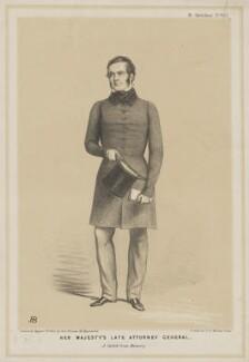 Sir William Webb Follett, by John ('HB') Doyle, published by  Thomas McLean - NPG D36998